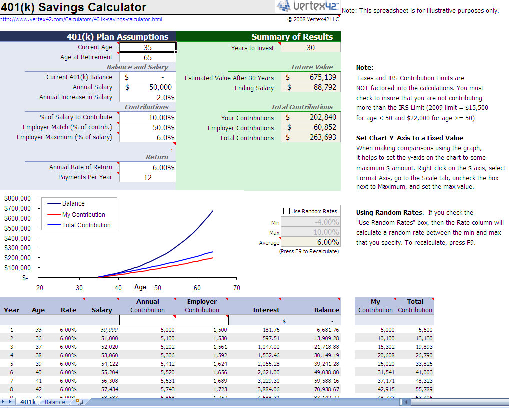 savings calculator excel template
