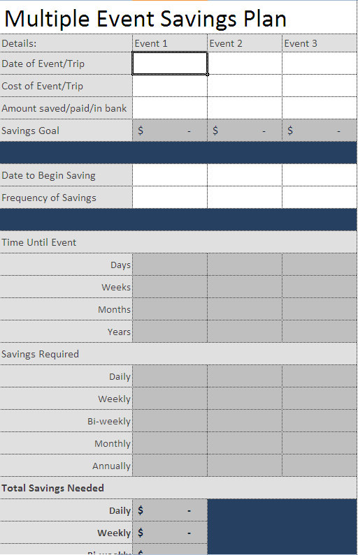 track savings - Savings Plan