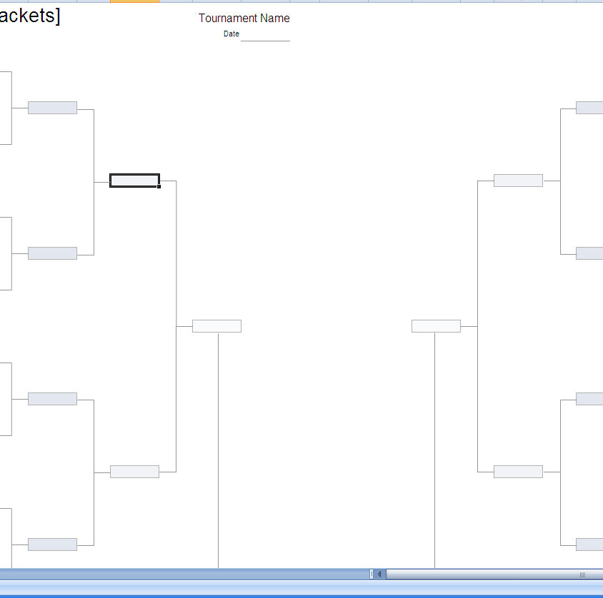 Tournament Bracket Excel Template  Excel Bracket Template
