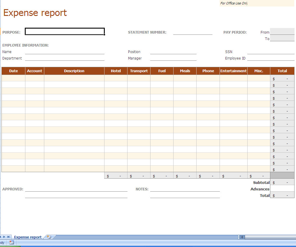 Business Expense Reports Archives Page 2 of 3 My Excel Templates – Business Expenses Template