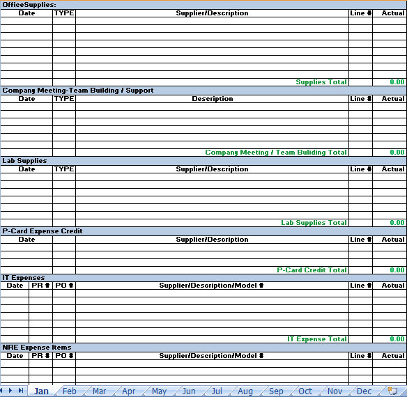 Business Expense Report Excel Template | Expense Report Excel