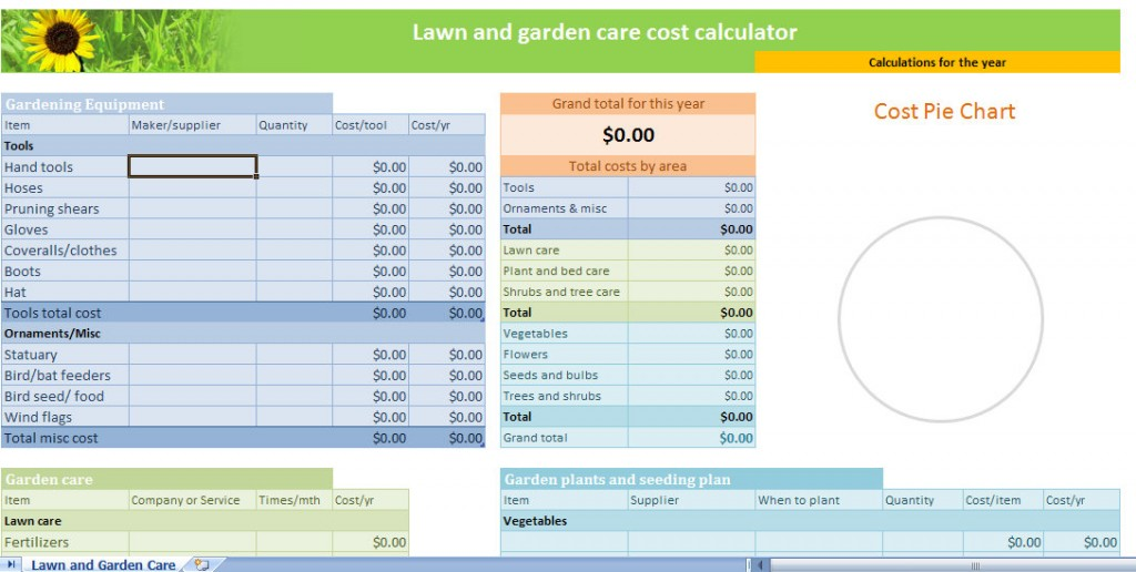Lawn And Garden Calculator Template Lawn Garden Calculator