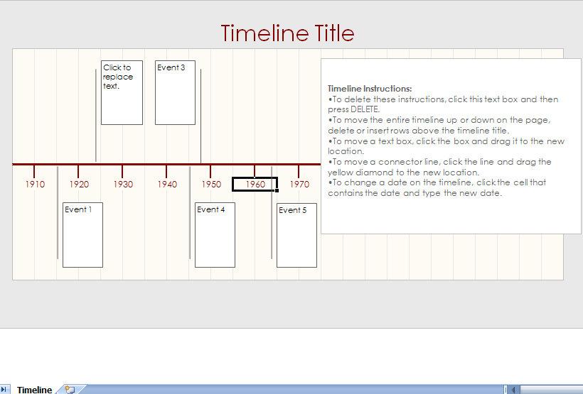 excel template timeline