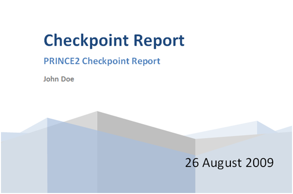 check point report