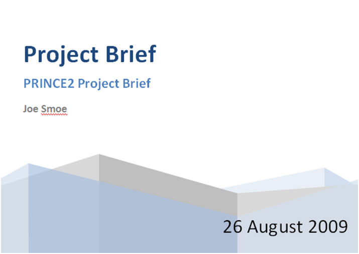 Project brief template choice image template design ideas for Prince2 terms of reference template