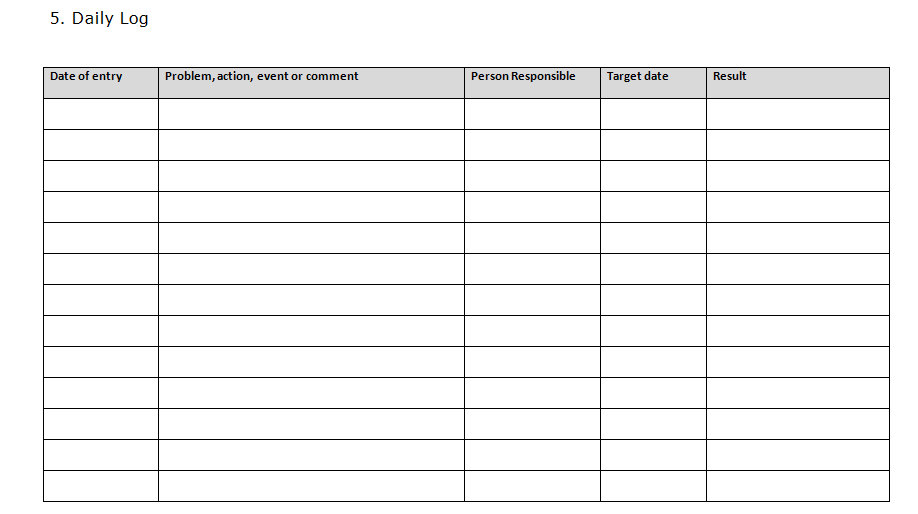 Sales Log Template. Call Log Template For Sales Organizations ...