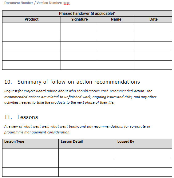 Prince2 project plan template free images template for Prince2 project plan template free