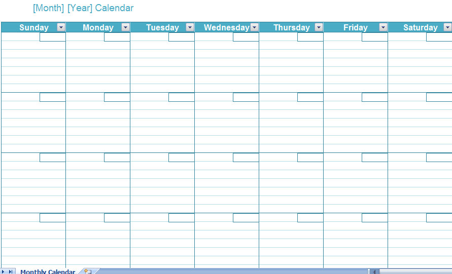 blank monthly calendar template my excel templates