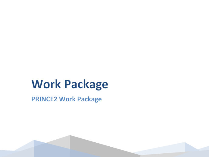 Prince2 Work Package Template