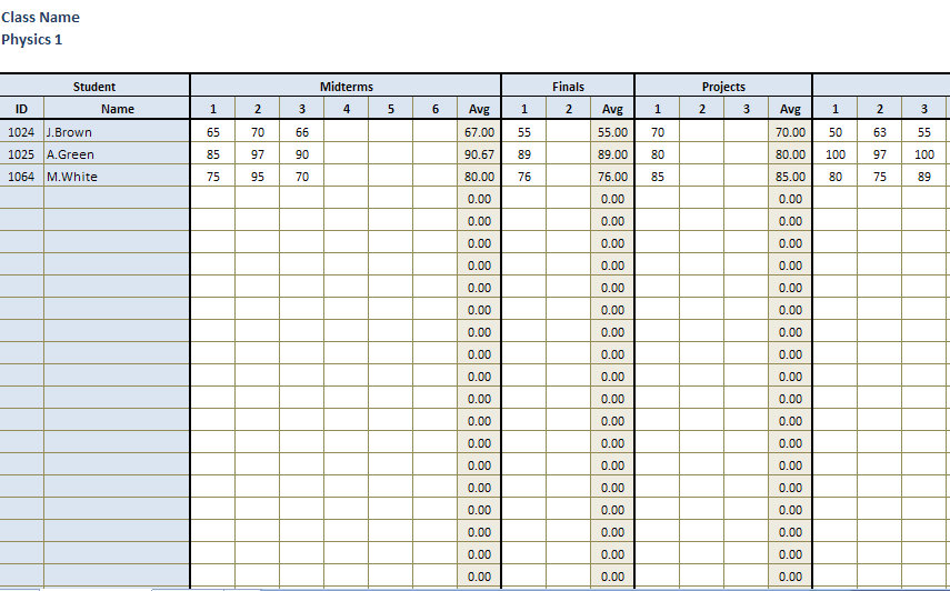Grading Chart for Teachers Printable http://www.art2business.org/b/96ea6ca6d8