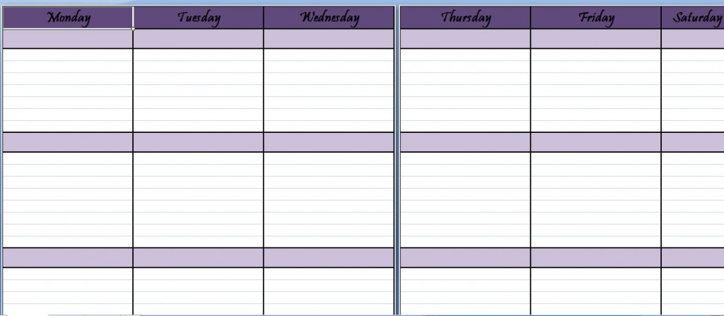 Weekly Schedule Planner Template | Weekly Schedule Sheet