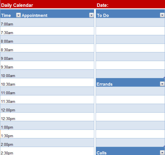 Excel Calendar Template Archives  Page  Of   My Excel Templates