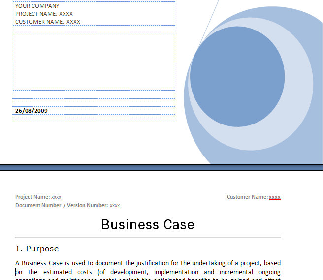 Prince2 business case template prince2 business case prince2 business case wajeb Gallery