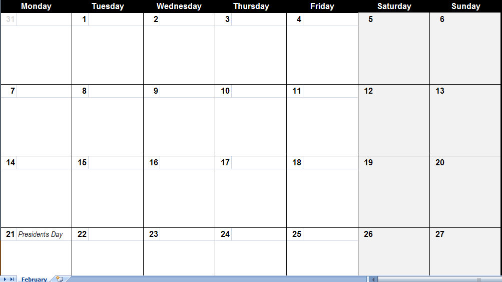 free may 2011 calendar template. february 2011 excel calendar