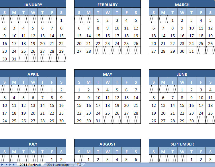 monthly calendar march 2011. March 2011 Printable Monthly
