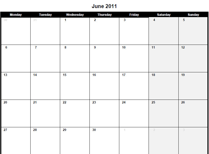 june 2011 calendar template. Print this PDF 2011 calendar