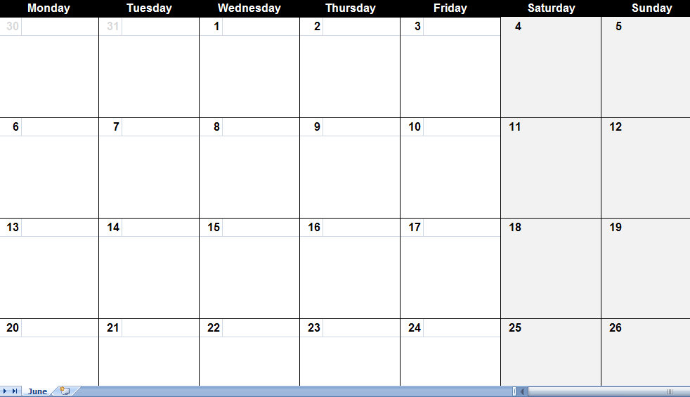 june 2011 calendar printable template