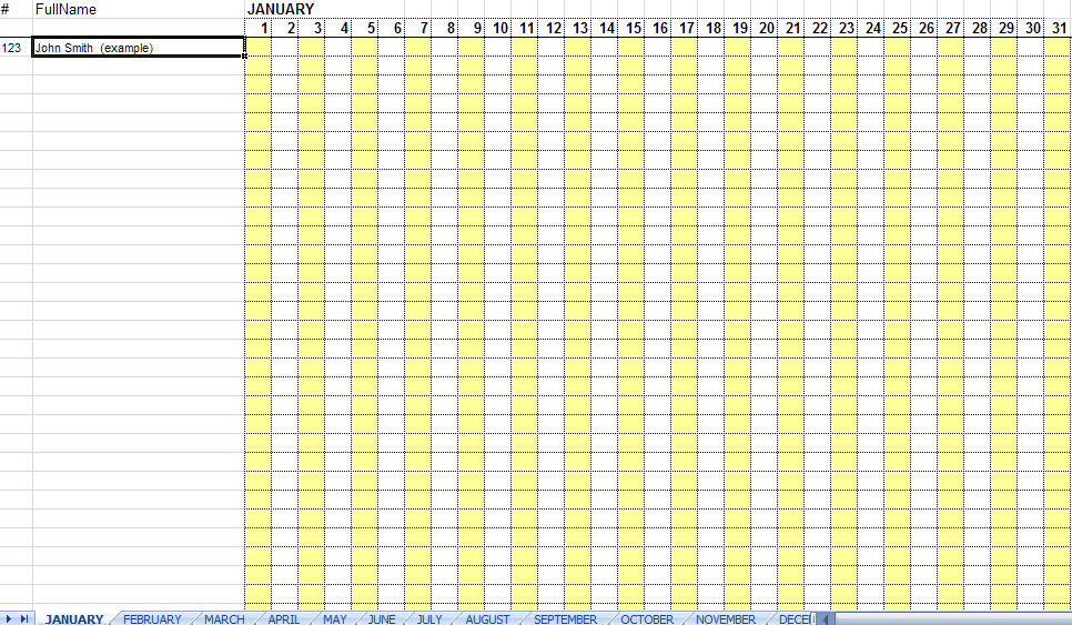 Vacation Tracker Excel