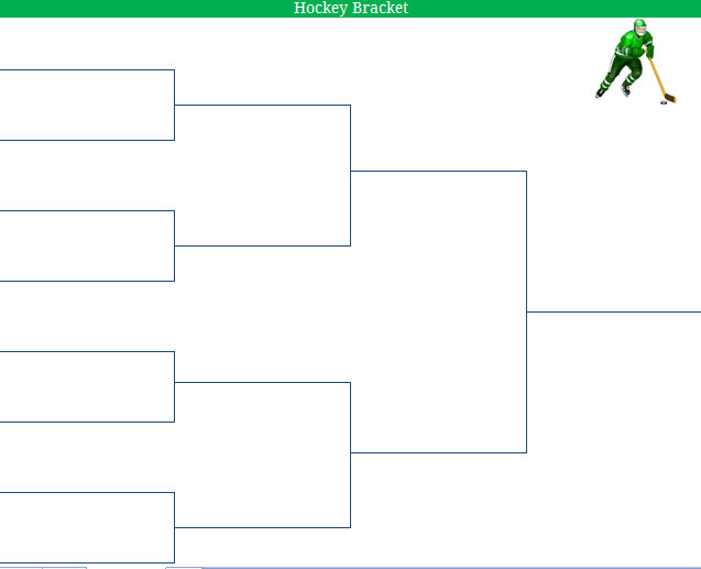2011 Printable Blank NCAA Mens Ice Hockey Championship Bracket