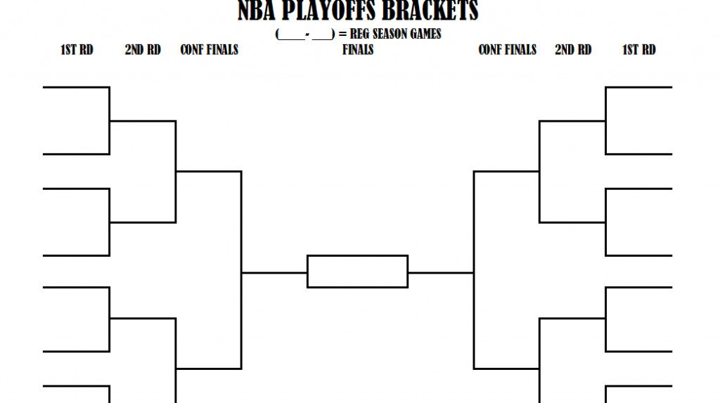 graphic about Printable Nba Playoff Bracket called nba playoff bracket nba playoff brackets