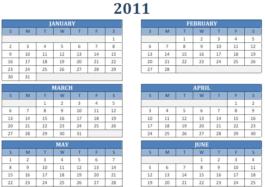 wallalaf free yearly calendar 2011 template