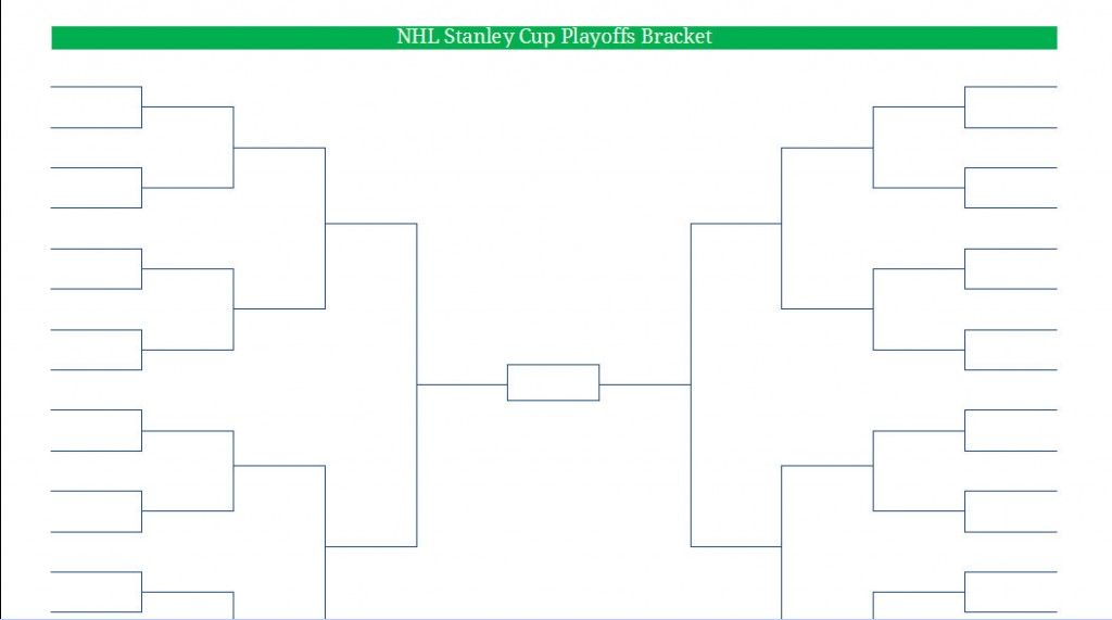 Printable pdf nhl hockey playoff bracket