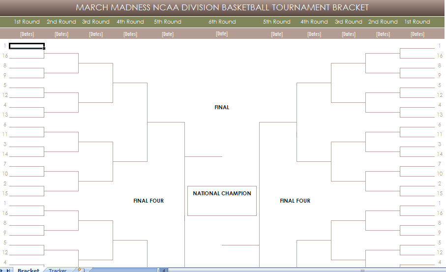 free printable march madness ncaa brackets