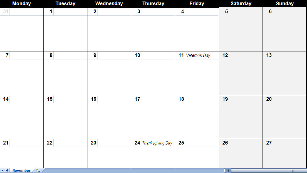 Njyloolus: Printable Calendars 2011 Monthly