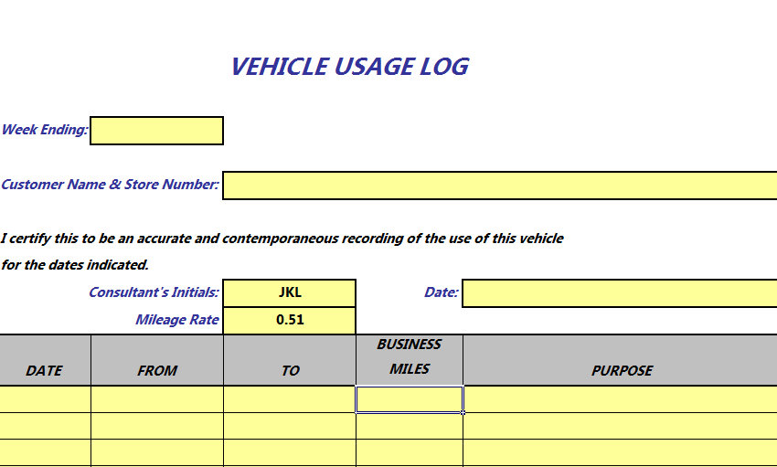 mileage reimbursement excel spreadsheet