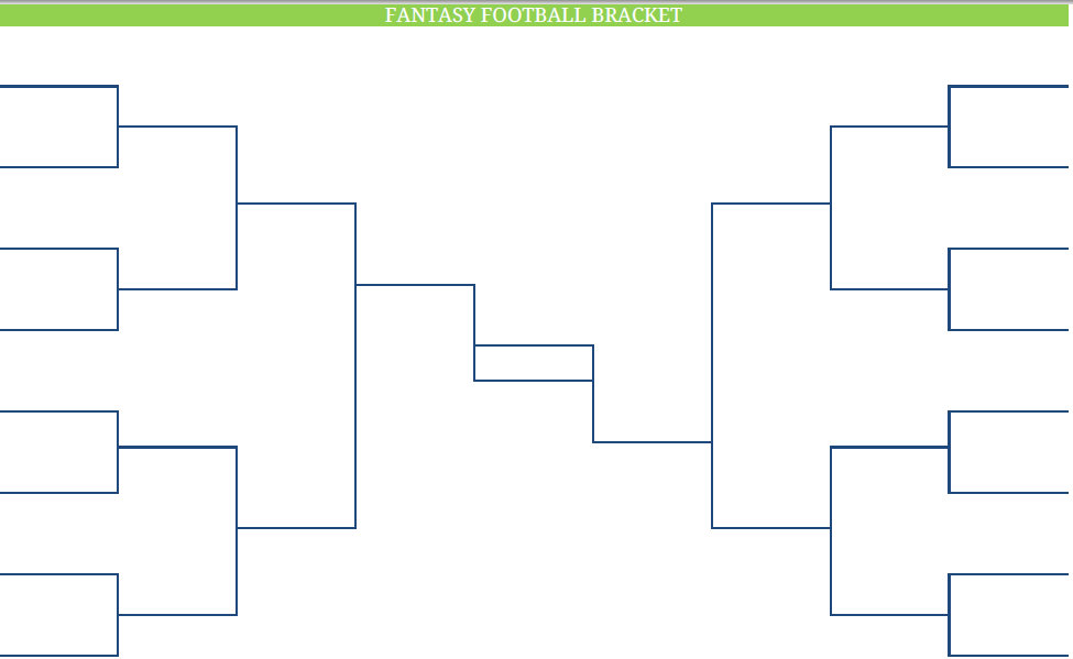Printable Blank PDF NFL fantasy football brackets