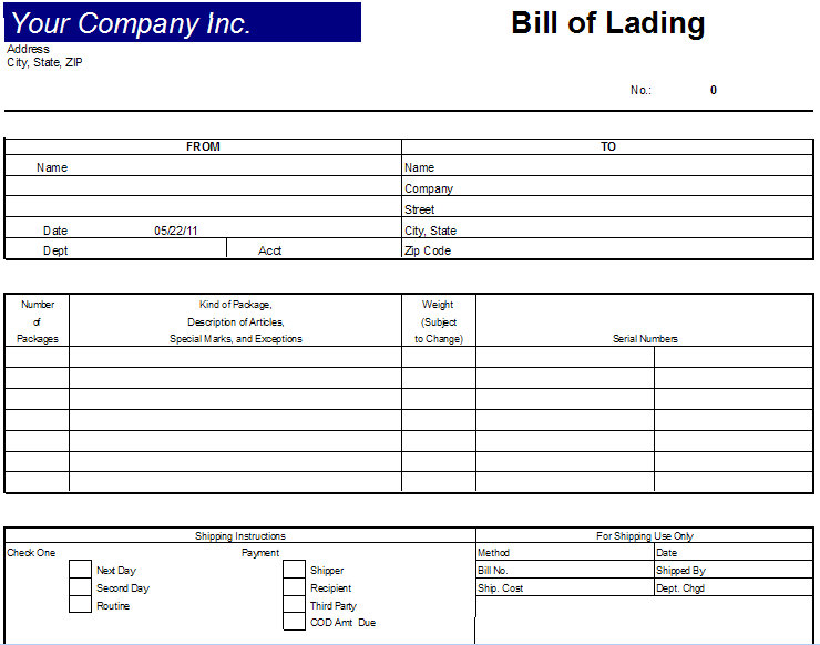 bill of lading. images draft is a ill of lading. ill of lading. excel ill of lading