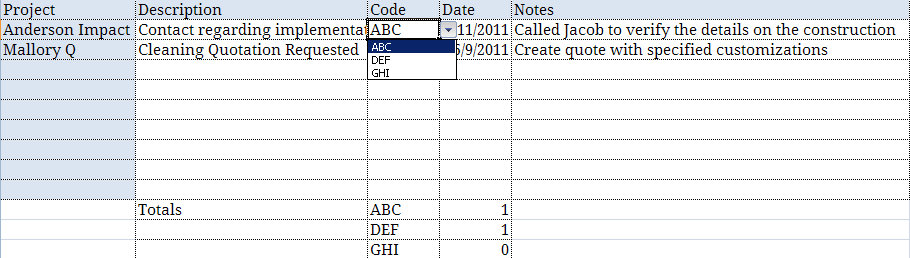 excel drop down list data validation