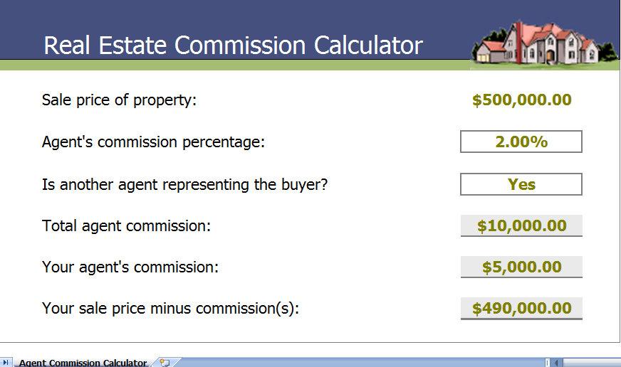 real estate commission calculator
