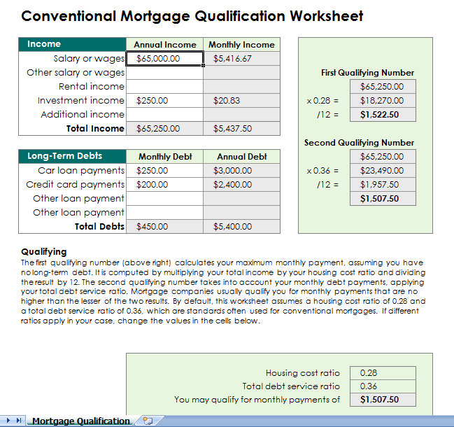 Mortgage Payment Calculator Archives  My Excel Templates