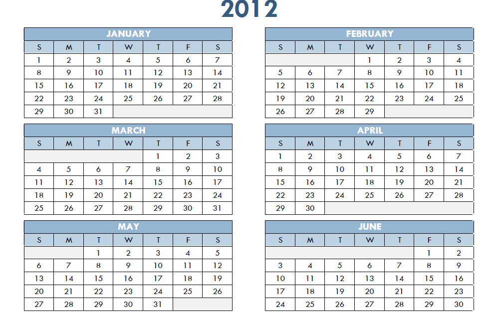 Calendar Excel One Page : Printable one page excel homedesignpictures