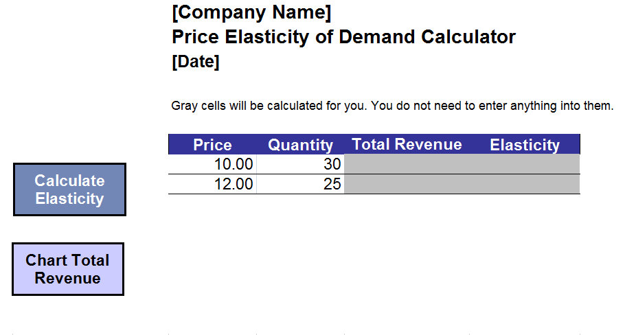 price elasticity of demand calculator