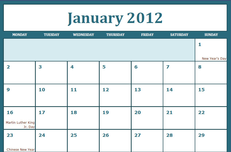 ... printable pdf january 2012 calendar by clicking the link printable pdf