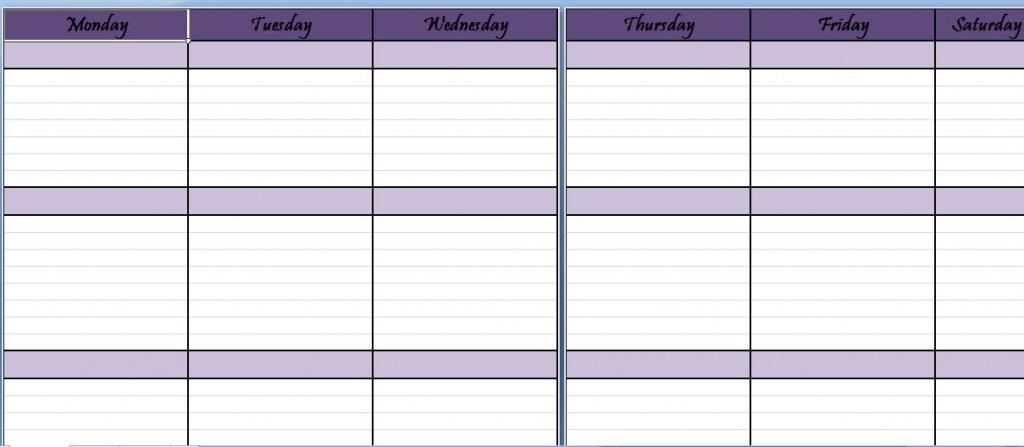 Weekly Schedule Planner Template Weekly Schedule Sheet